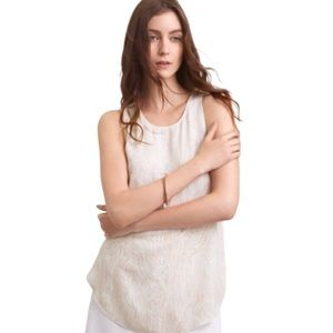 Wilfred Sevres Cream Patterned Sleeveless Blouse S